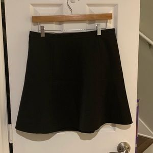 J.Crew Fluted Skirt in Double Crepe